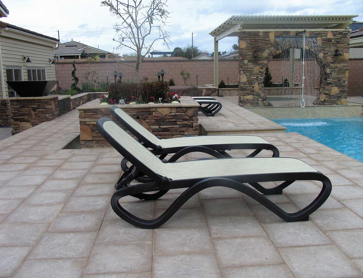 Outdoor Living Artistic Pavers Patio Cover Water Wall Fountain Vegas 1 59